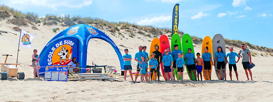 École de surf sur la côte sauvage de Royan